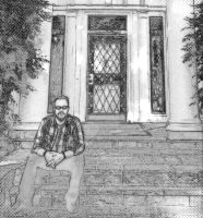 Front porch Self-Potrait by TJ-Scar