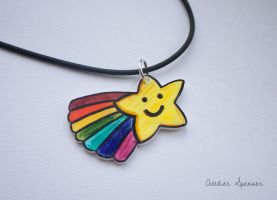 Shooting Star Rainbow Pendant by MaverickMae