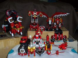 Red Zord Fleet - UPDATED by tasakeru828