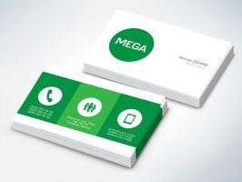 MEGA Business Card by eskikitapci