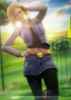 Android 18 by PGandara