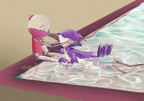 Mordeson at a pool by snackguardians