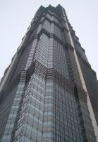 Shanghai Jin Mao Tower by lifedrawnpoorly