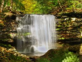 Ricketts Glen State Park 52 by Dracoart-Stock