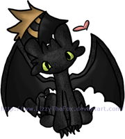 Chibi Toothless by LizzyTheFox