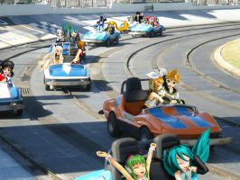 Vocaloid Disney Vacation: Racetrack by TheKohakuDragon