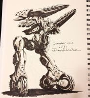 Inktober #16 Insurgent by Mecha-Zone