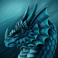 Turquoise Dragon Portrait by DragonosX