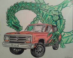 Dragon And Ramcharger by danieldenta169