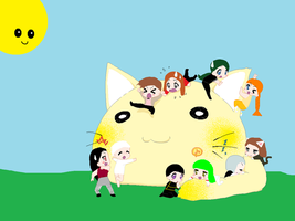 LS WP: Giant Yellow Kitten by Kitty-the-Waterbaby