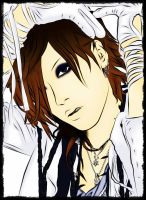 Uruha (the GazettE) in magazine by GazerockShangri