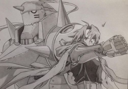 Edward and Alphonse Elric by Conzibar