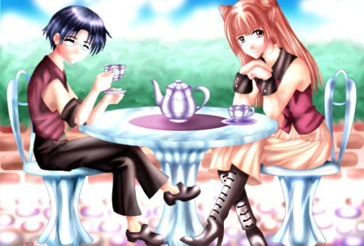 Eriol and Nakuru's Tea Time by Charlatan999