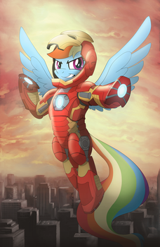Iron Pony Rainbow Dash by artwork-tee
