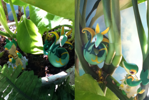 Snivy and Serperior: Elements of Grass by Aqws7