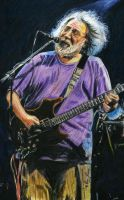 Jerry Garcia Jammin' by reesmeister