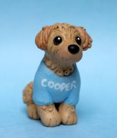 Cooper the Cockapoo dog sculpture for Wendy by SculpyPups
