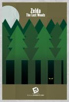 Zelda The Lost Woods Minimal Poster by Chadski51
