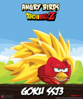 Goku SSJ3-Angry birds crossover by Brinx-dragonball
