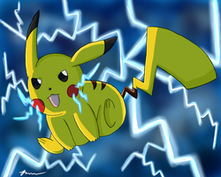 Electricfying Pikachu by SmashingPumkaboo