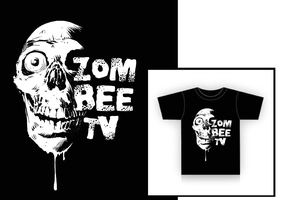 Zom-Bee TV t-shirt design by RobertHack
