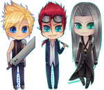 Final Fantasy Chibi Set [3/3] VII by Ringamon