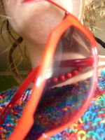 self portrait with red glasses by Agniech