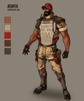 Concept: Overwatch's Reaper - Military Alt Costume by asphillipsart