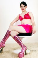 Girl in Retro Chair Stock 1 by kristyvictoria
