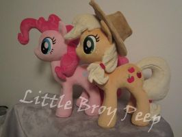 mlp AppleJack and pinkie pie (commissions) by Little-Broy-Peep