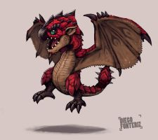 Chibi Rathalos by FonteArt