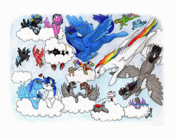 My Little Pony Drawing Group September Banner 2014 by Khimera
