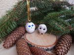 Christmas ornaments owls by koshka741
