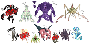 Monstrous Adoptables III by blinkpen