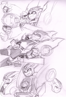 blurr and sisters sketches by LyricaBelachium