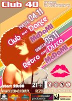dance and retro - club 40 flyer by damid