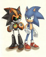 SHARD and Sonic by cumeoart