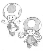 Pencil Toads by LunarSpoon