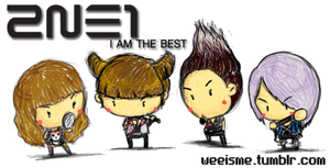 2NE1 I AM THE BEST by weeisme