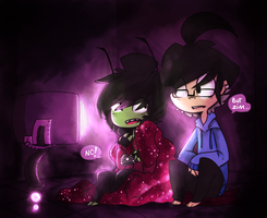 .: don't talk to zim when he's gaming :. by MissFemke