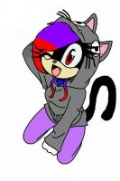 Ally in her hoodie by cookieallykitty