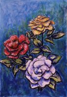 Three Roses by mbeckett