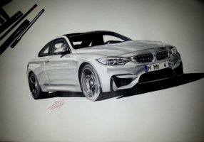 BMW M4 Drawing by DOM-G92