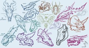 Mostly Dragon Skulls Adoptables :Sold by Decadia