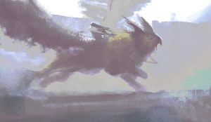 Daily Doodles 2013 10 26 griffin by M0nkeyBread