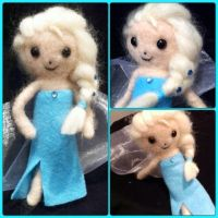 Needle Felted Elsa Poseable Doll! by StarlitCutesies