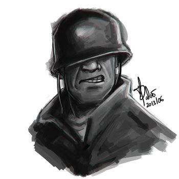 Soldier Speed Portrait by Psamophis
