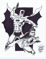 Batman and Robin by wfbarton