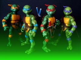 TMNT Classic Turtles - Brothers by 0PT1C5