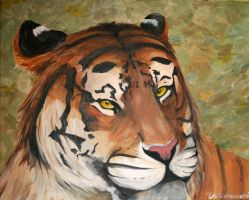 Tiger Painting by Sweater